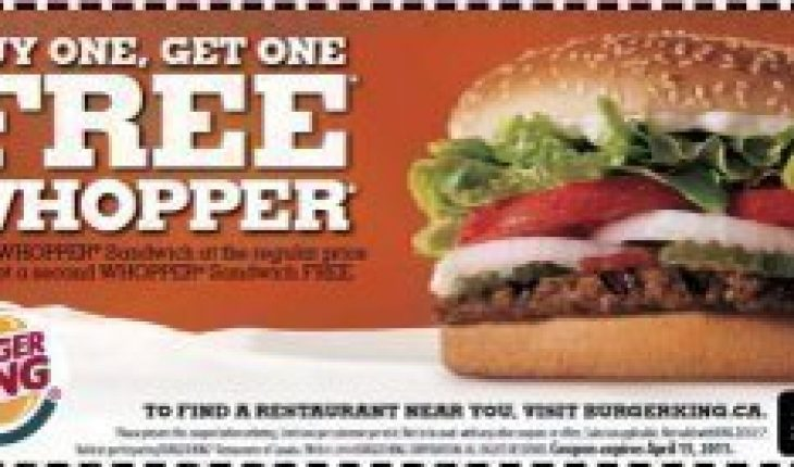 burger coupons fast food